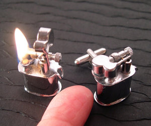 Real Working Vintage Lighter Cufflinks