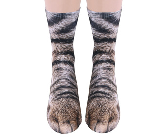 Realistic Cat and Dog Paw Socks