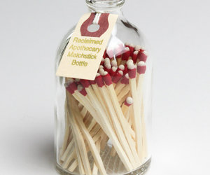 Reclaimed Apothecary Matchstick Bottles