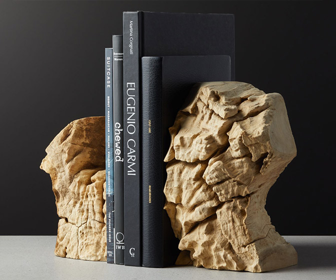 Reclaimed Teak Root Bookends