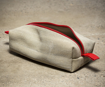 Recycled Fire Hose Dopp Kit