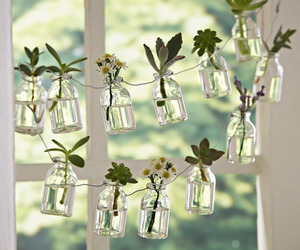 Recycled Glass Bottle Garland