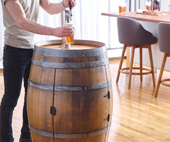 Recycled Wine Barrel Kegerator