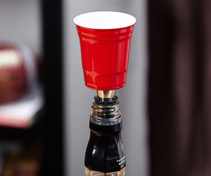 Red Party Cup Bottle Stopper / Shot Glass