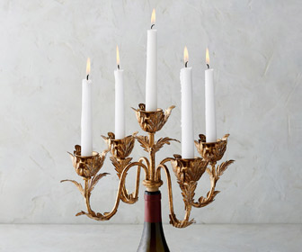 Renoir Wine Bottle Candelabra