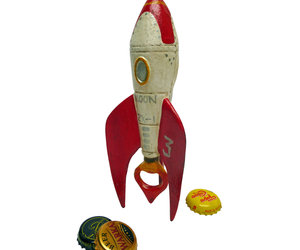 Retro Rocket Ship Cast Iron Bottle Opener