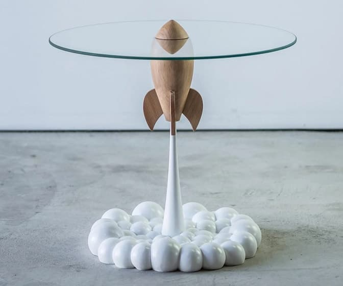 Retro Rocket Ship Table