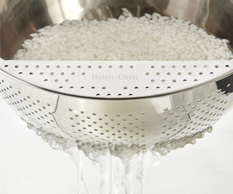 Rice Washing Bowl - Rinse and Soak Rice, Legumes, Grains, and More