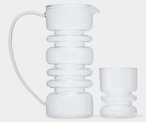 Rings Carafe and Glass