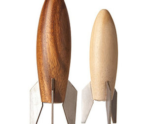 Rocket Ship Salt And Pepper Shakers