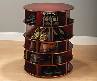 Rotating 25 Pair Shoe Tower