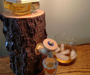 Rustic Log Wine / Liquor Dispensers