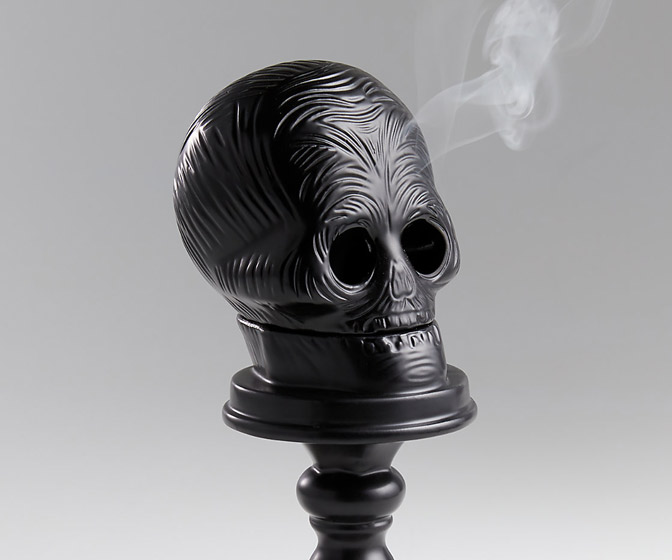 Scary Skull Incense Burner