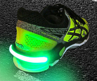 Schatzii FireFly - Running and Biking Safety Shoe Light Clips