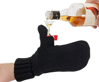 Secret Hidden Flask Mittens