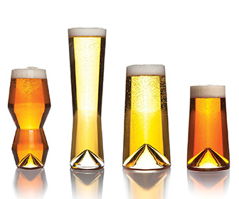 Sempli Monti-Taste - Set of Four Modern Beer Tasting Glasses