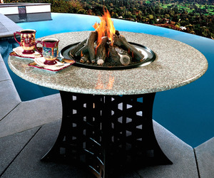 Shanxi Granite Hearth Table - Fire Pit, Grill or Ice Bucket!