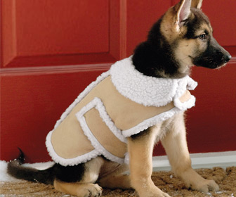 Shearling Fleece Winter Dog Coat