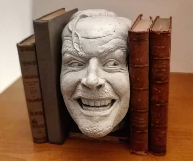 The Shining Bookend Sculpture - Here's Johnny!