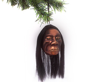 Shrunken Head Christmas Ornament