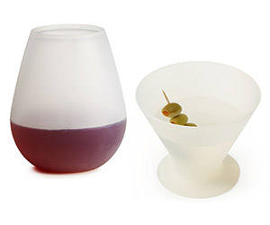 Silicone Wine and Martini Glasses