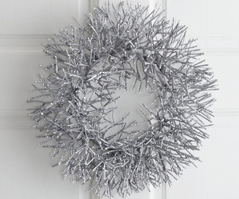 Silver Glitter Wreath / Centerpiece
