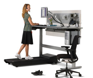 Sit-To-Walkstation Treadmill Desk - Sit, Stand or Walk!