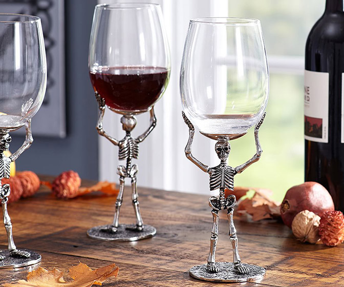 Skeleton Wine Glass