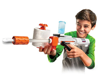 Skid Shot Toilet Paper Blaster - Fires Spitballs Up To 30 Feet!