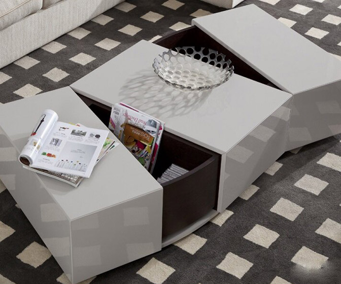 Sleek Modern Coffee Table with Hidden Storage