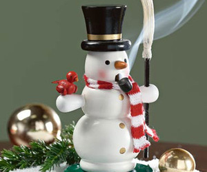Smoking Snowman - Pine-Scented Incense Burner