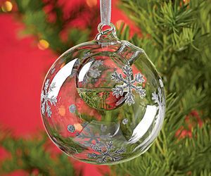 Snowflake Bubble - Ornament / Essential Oil Diffuser
