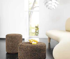 Solid Cork Tables & Stools by Designer Jasper Morrison