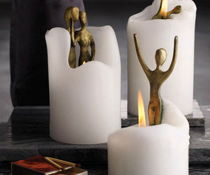 Spirit Candles Hide Bronze Sculptures Inside