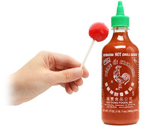 Sriracha Hot Chili Sauce Lollipops