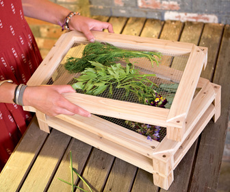 Stackable Herb and Flower Drying Racks