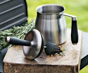 Stainless Steel Basting Sauce Pot with Silicone Brush