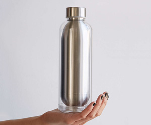 Stainless Steel Beverage Bottle With Removable Insulator Case