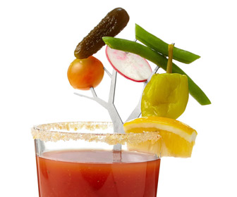 Stainless Steel Garnish Branches - Create Epic Bloody Marys and Cocktails