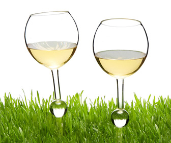 Staked Outdoor Wine Glasses