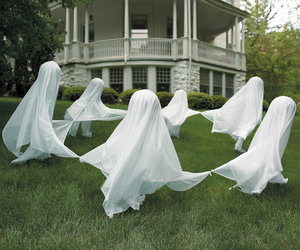 Creepy Staked Yard Ghosts