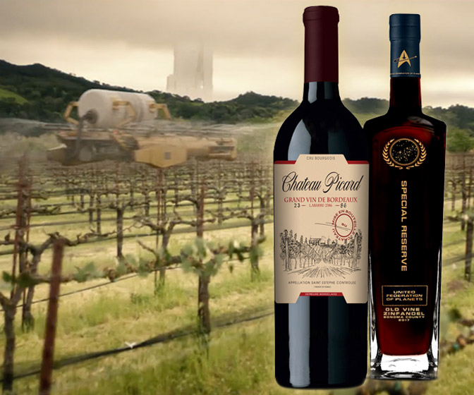 Star Trek Chateau Picard Wine