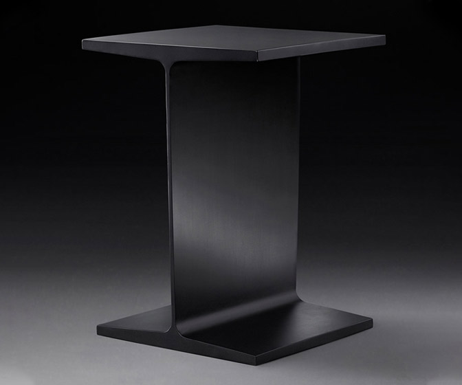 Steel I-Beam Side Table
