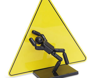 Stickman Action Figure Warning Sign