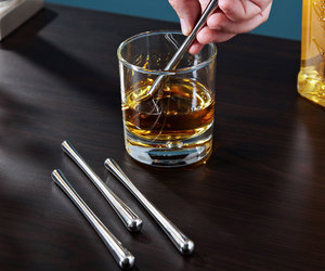 Stircicles - Freezable Stainless Steel Swizzle Sticks