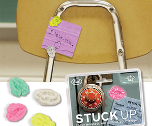 Stuck Up - Chewed Wad of Gum Refrigerator Magnets