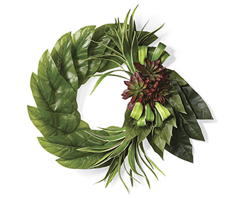 Succulent Dasheen Leaf Wreath