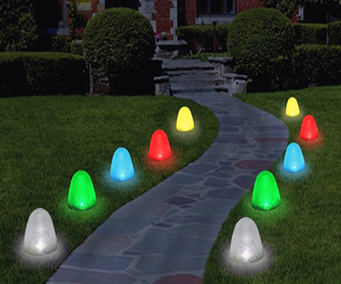 Sugar-Coated Gumdrop Pathway Lights