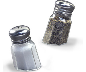 Sunk-In Salt and Pepper Shakers