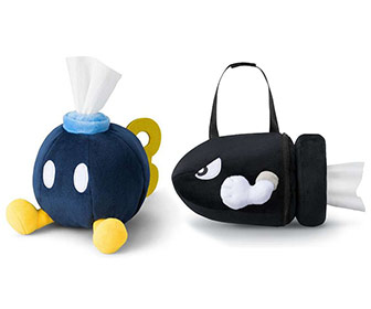 Super Mario Bob-omb and Bullet Bill Tissue Holders